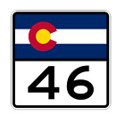 Colorado State Highway 46 Sticker Decal R1799 Highway Sign