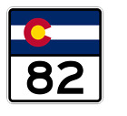 Colorado State Highway 82 Sticker Decal R1823 Highway Sign