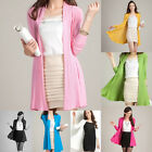 Hot Womens Long Sleeve Cardigan Ladies Sweater Open Front Knitted Top Overcoat