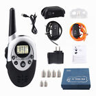 Dog Pet Shock Training Collar Neck Belt Electric Vibrate Trainer Remote Control