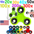 6 Colors Tri-Spinner Fidget Toy STEEL BALL Plastic EDC Hand Spinner Wholesale