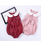 Summer Newborn Toddler Baby Girls Clothes Lace Floral Romper Bodysuit Outfits