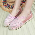 Trendy Womens Girls Woven Flats Loafers Satin Embriodered Handmade Leisure Shoes