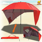 New Portable Sun and Weather Umbrella Shelter Sport or Beach 8 Foot Canopy Tent