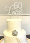 Sparkling Glitter Cake Topper PERSONALISED Varied Size Colour Wedding Engagement