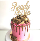 Sparkle Glitter Cake Topper PERSONALISED Varied Size & Colour Wording, Baby Name