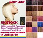 "18"" 20"" 22"" 24"" Pre Bonded Micro Rings Easy Loop 100% Real Human Hair Extensions"