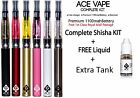ELECTRONIC E SHISHA VAPE PEN E LIQUID EJUICE 1100mAh KIT + E Liquid + EXTRA TANK