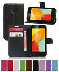 Flip Wallet Card Stand Leather Case Cover For Alcatel OneTouch Pixi 4 Phones New