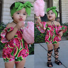 Newborn Baby Girl Summer Romper Bodysuit Jumpsuit Casual Party Clothes Outfit