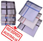 Lot 6 Half Dozen Men's Pocket 41cmX41cm Square FINE COTTON Handkerchiefs Hanky
