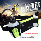 2017 Sport Running Cycling Waist Pack Belt Bum Bag Phone Pocket &2 Water Bottles