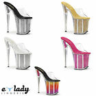 Pleaser Flamingo-801SRS Shoes Platform Sandals Slip On Mules Stiletto High Heels