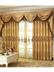 Luxury embroidered velvet curtain Valance drapes for large living room customize