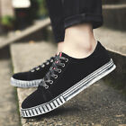 Men's New Casual Breathable Plate Shoes Sports Lace-up Trainer Shoes Sneakers