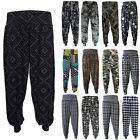 New Ali Baba Printed Aladin Harem Pants Loose Baggy Trousers Plus Size UK 8-26