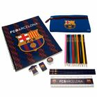 FC Barcelona Back to School Stationery Set Pen Pencil Case Student Pad Gift