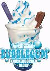 ICE CREAM VAN STICKER BUBBLEGUM  KGB SUNDAE CATERING SHOP WITH/WITHOUT FLAKE