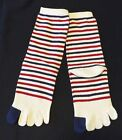 Fingers Socks 5 toes Women Girl Crew Stripe Casual Pattern Design One pair WRDB