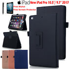 "New iPad 5th Gen 9.7"" / Pro 10.5"" 2017 Leather Stand Case Smart Wake/Sleep Cover"