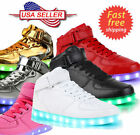 Unisex Kids High tops LED Luminous Shoes Casual Sports Sneakers For Boys Girls