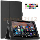 Folio Smart Case Cover For All-New Amazon Fire HD 8 2017/2016 Release Tablet