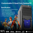 Windows 10 Customised Core I5 Quad Core Gaming Tower 16gb / 8gb Ddr3 Pc Computer