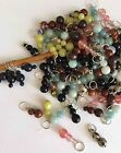 Knitterbabe Semi-Precious Bead Stitch Markers x 4 per set. Up to 5.5mm needles