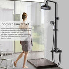 Bathroom Wall Mount Shower Faucet 8''Rain Shower Head With Tub Filler Mixer Tap