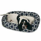 Majestic Pet BAGEL DOG BED LINKS Waterproof Base BLUE -81x58x18 or 102x74x23cm