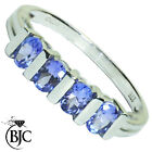 BJC® 9ct White gold Tanzanite eternity size L 1/2 engagement ring R92