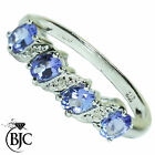BJC® 9ct White gold Tanzanite & Diamond eternity size O engagement ring R70