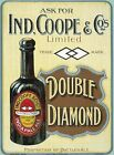 IND COOPE DOUBLE DIAMOND BOTTLED ALE MAN CAVE PUB BAR TIN SIGN METAL PLAQUE 190