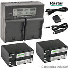 Kastar Battery Charger Canon BP-970G & EOS C300 C300 PL, EOS C500 C500 PL GL2