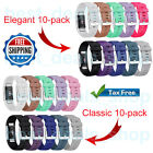10 PACK Replacement Band for FITBIT CHARGE 2 Silicone Wristband Bracelet Strap