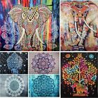 Indian Mandala Tapestry Wall Hanging Hippie Throw Elephant Bedspread Home Decor