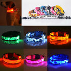 Light Up LED Adjustable Nylon Camouflage Pet Dog Safety Collar Nighttime Glow