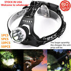 10000LM 3-Modes XM-L T6 LED Headlamp Torch Headlight 18650  outdoor 06C *