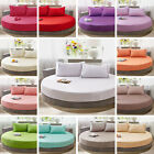Cotton Round Fitted Coverlet Bed Sheet Bedspread Mattress To