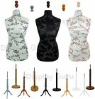 Floral Tailors Tailor Dummies Dummy Dressmakers Mannequin Bust Wooden Stand for sale  Leigh