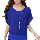 Купить Fashion Women Ladies Summer Loose Casual Chiffon Short Sleeve Shirt Tops Blouse