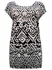 Evans aztec print studded tunic~Cream & black~18  20  22/24  ~New