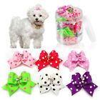 50/100pcs Cute Dots Bling Puppy Dog Hair Bows Grooming Accessory for Yorkie Cat