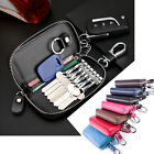 Genuine Leather Women Car Key Case Bag Wallet Men Key Keychain Holder Organizer