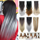 100% Natural Remy Hair Full Head Clip In Ins Hair Extensions as human Synthetic