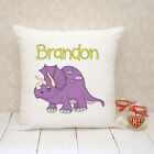 Personalised Cushion Cover - Present Gift - Dinosaur
