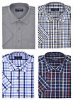 Tom Hagan Mens Casual Shirt Short Sleeves Checked Pattern Medium To 6XL