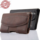 Horizontal Leather Cellphone Holster Belt Clip loop Cover Case Pouch Card Holder