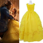 Beauty and the Beast Belle Dress Cosplay Costume 2017 Yellow Princess Dresse
