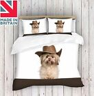 3D Digital Print Cow Boy Dog Duvet Cover Quilt Cover Bedding Single ,Double,King